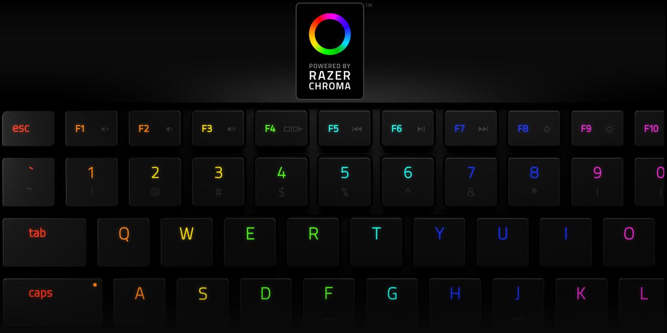 Razer Blade Stealth Podświetlenie klawiatury Razer Chroma