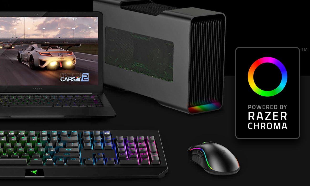 Razer Core V2 własne, unikalne efekty podświetlenia z Razer Chroma