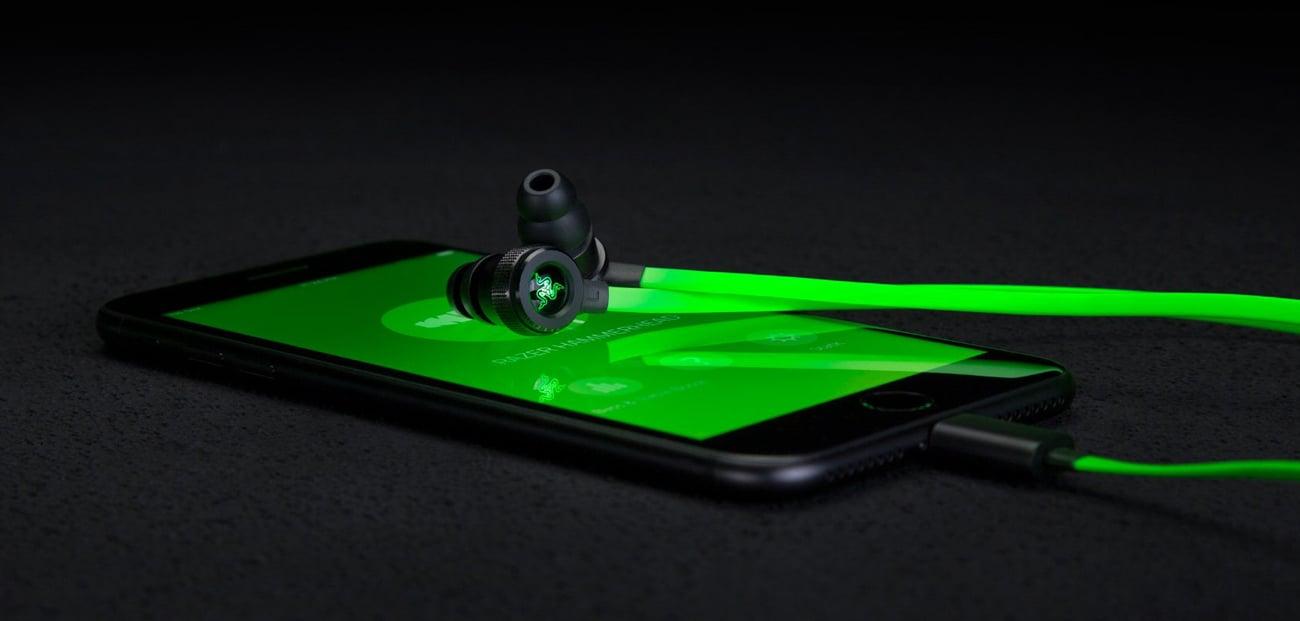 Razer Hammerhead Lightning iOS aplikacja podświetlenie
