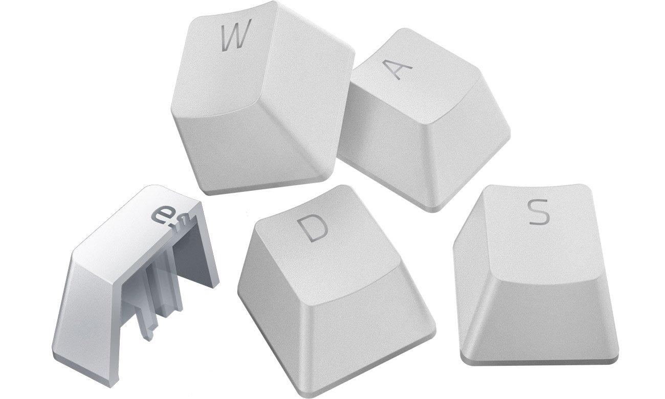 Keycaps do klawiatury Razer PBT Mercury White