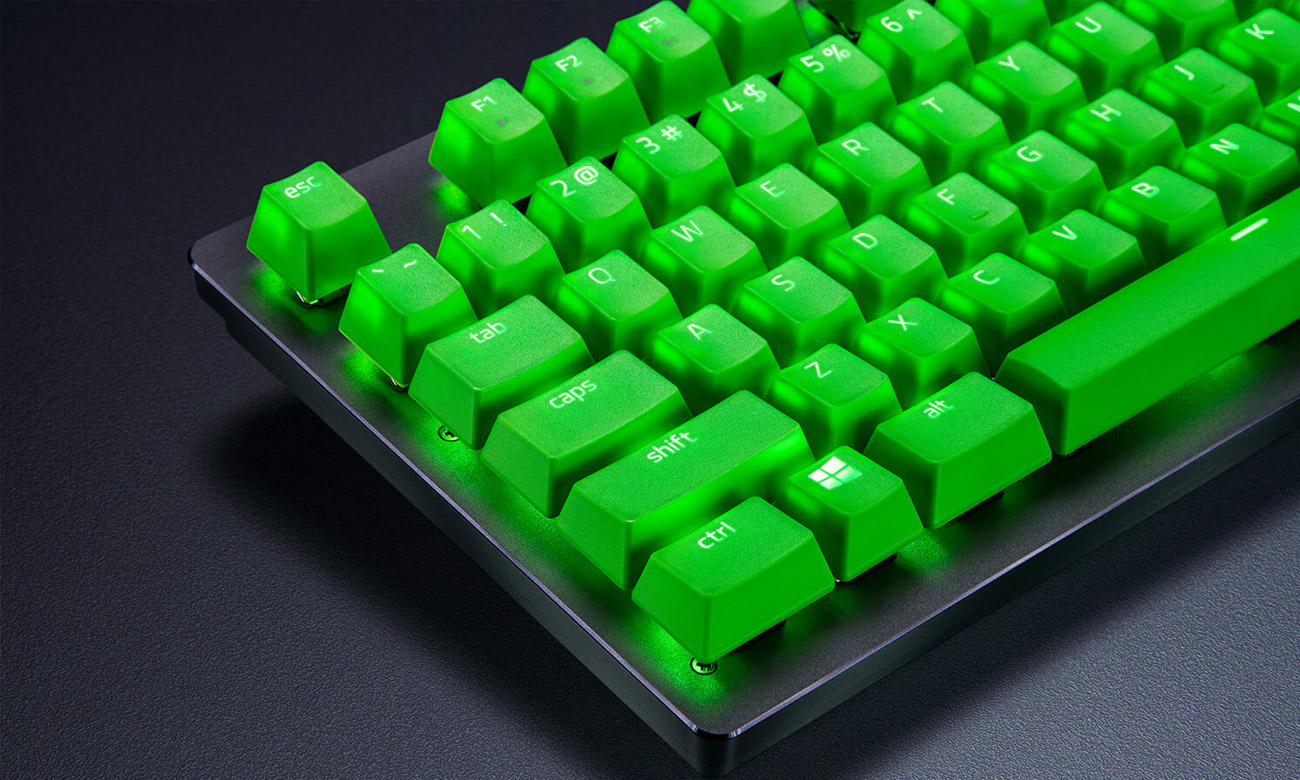 Keycaps do klawiatury Razer PBT Razer Green