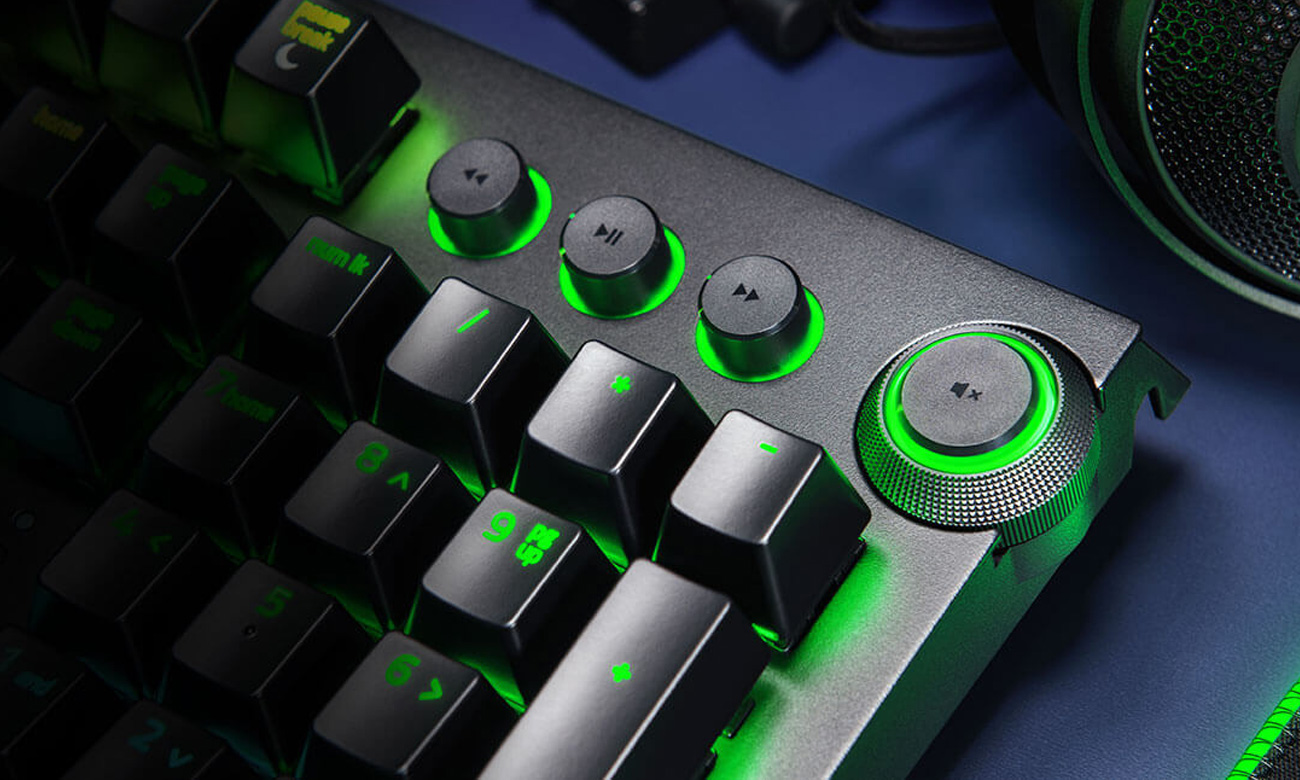 Razer BlackWidow Elite Green Switch Pokrętło Wielofunkcyjne