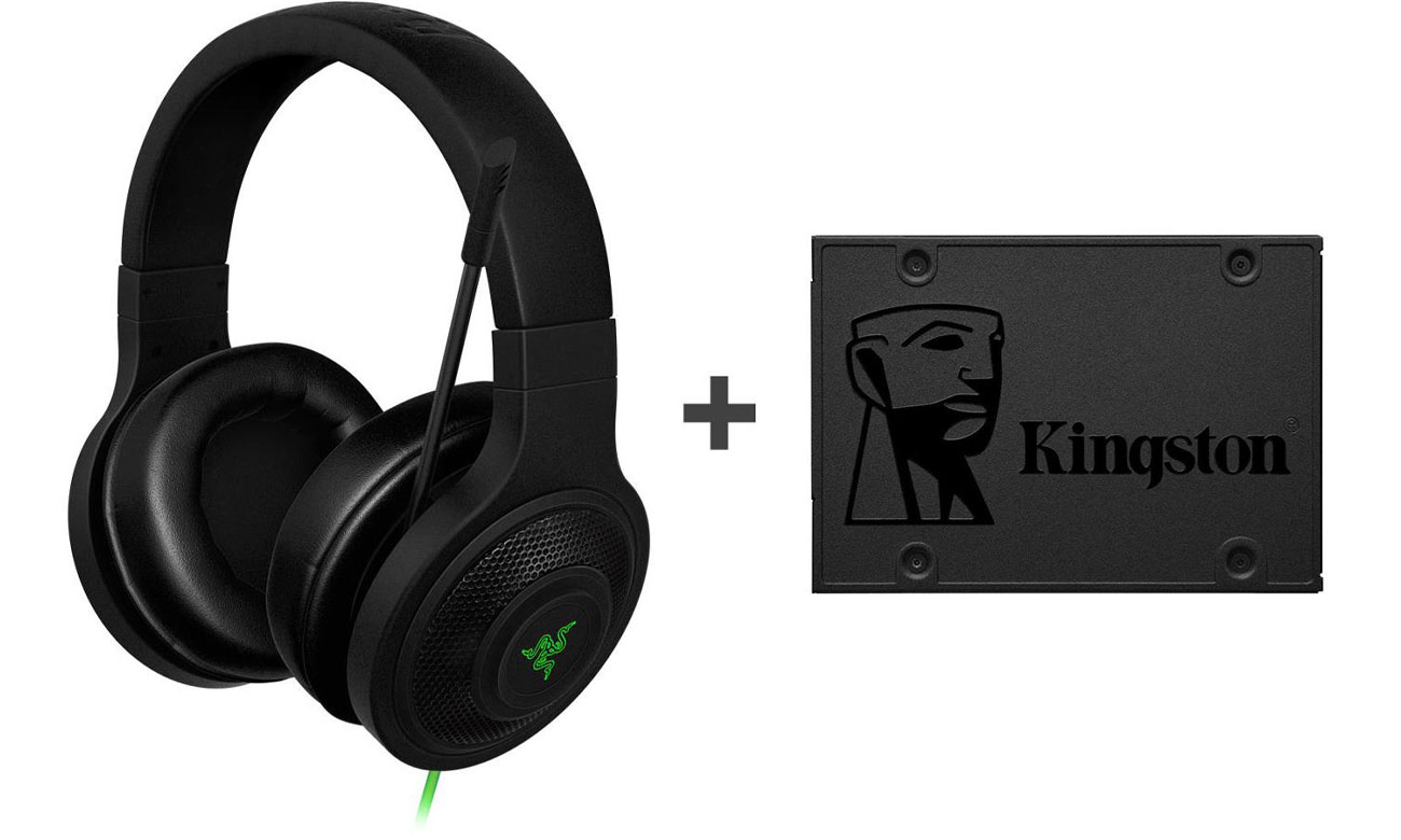 Zestaw Razer Kraken Essential + Kingston A400 480 GB