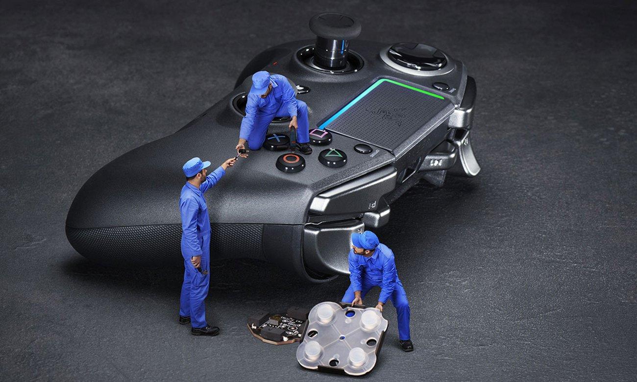 Mechaniczne przyciski i wymienne gałki