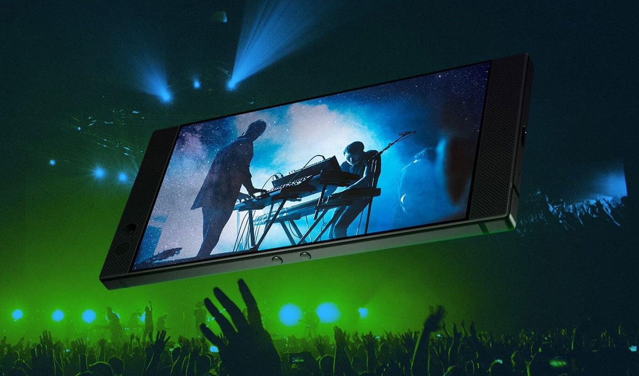 Razer Phone głosniki stereo dolby atmoss thx