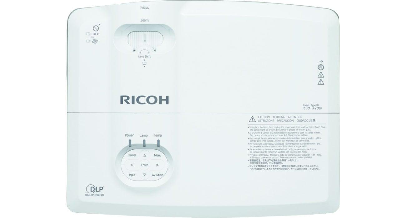 Ricoh PJ X5770 - Widok z góry