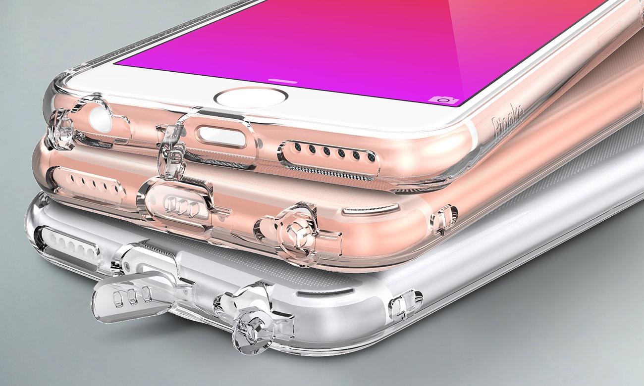 Ringke Air do iPhone 6/6s Crystal View dodatkowe zaślepki