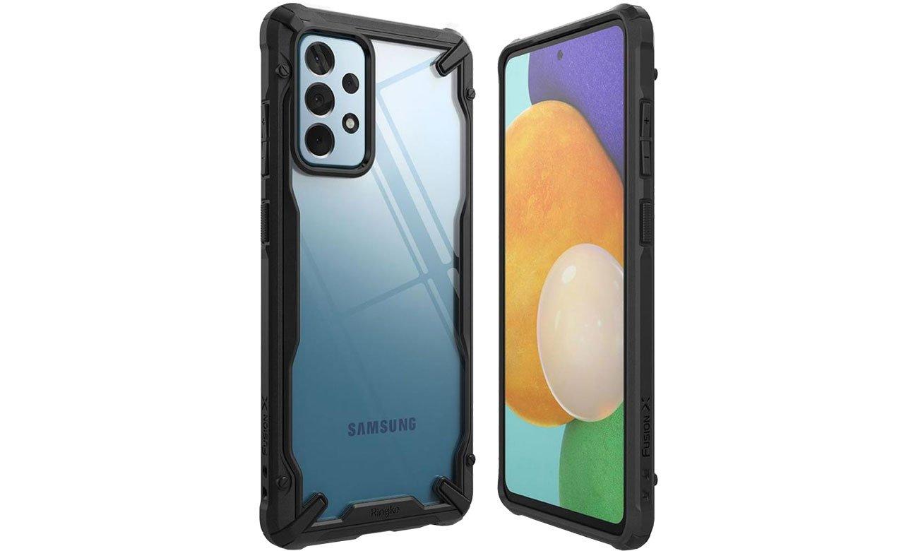 Etui Ringke Fusion X do Samsung Galaxy A52 czarny FUSG0069