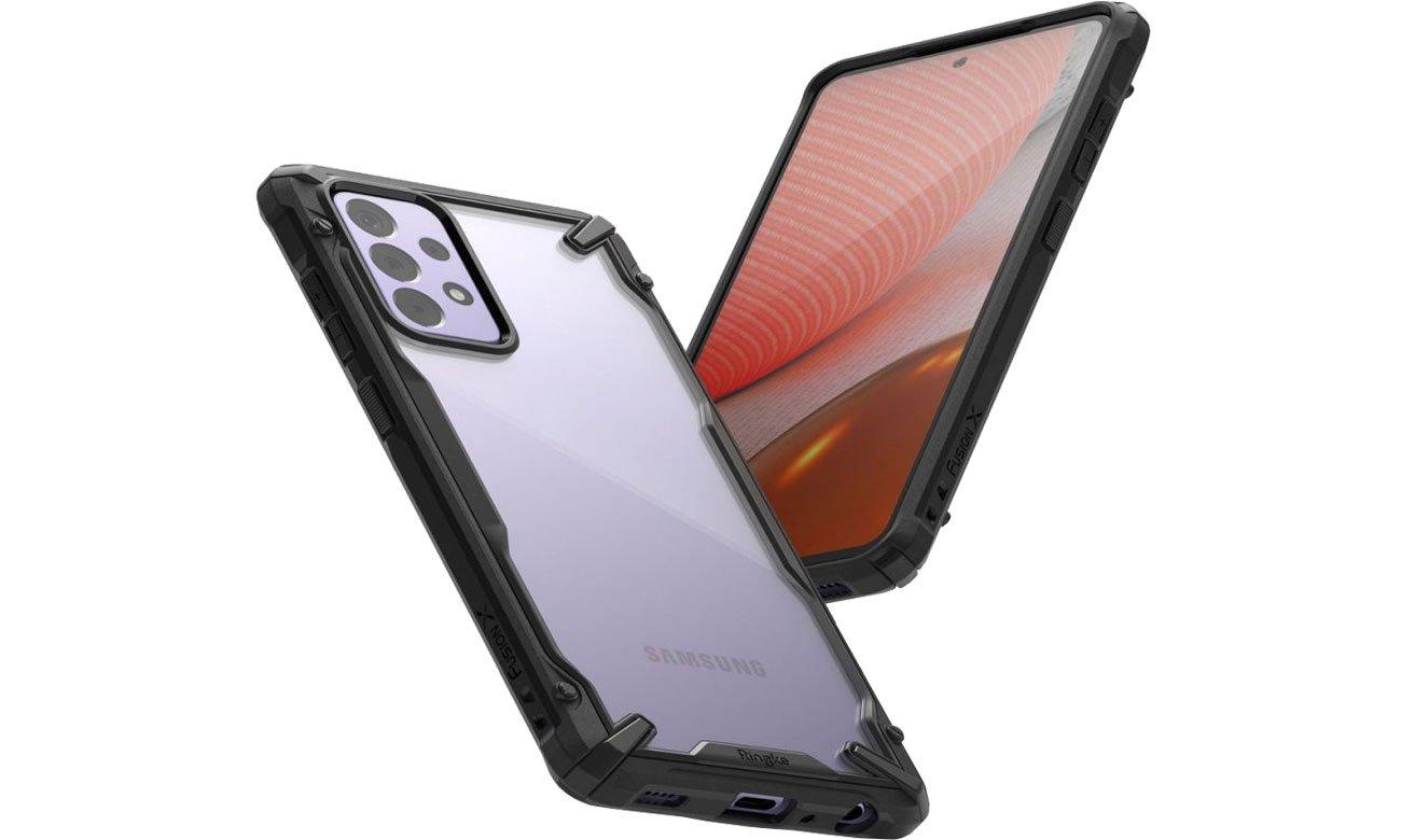 Etui Ringke Fusion X do Samsung Galaxy A72 czarny FUSG0070