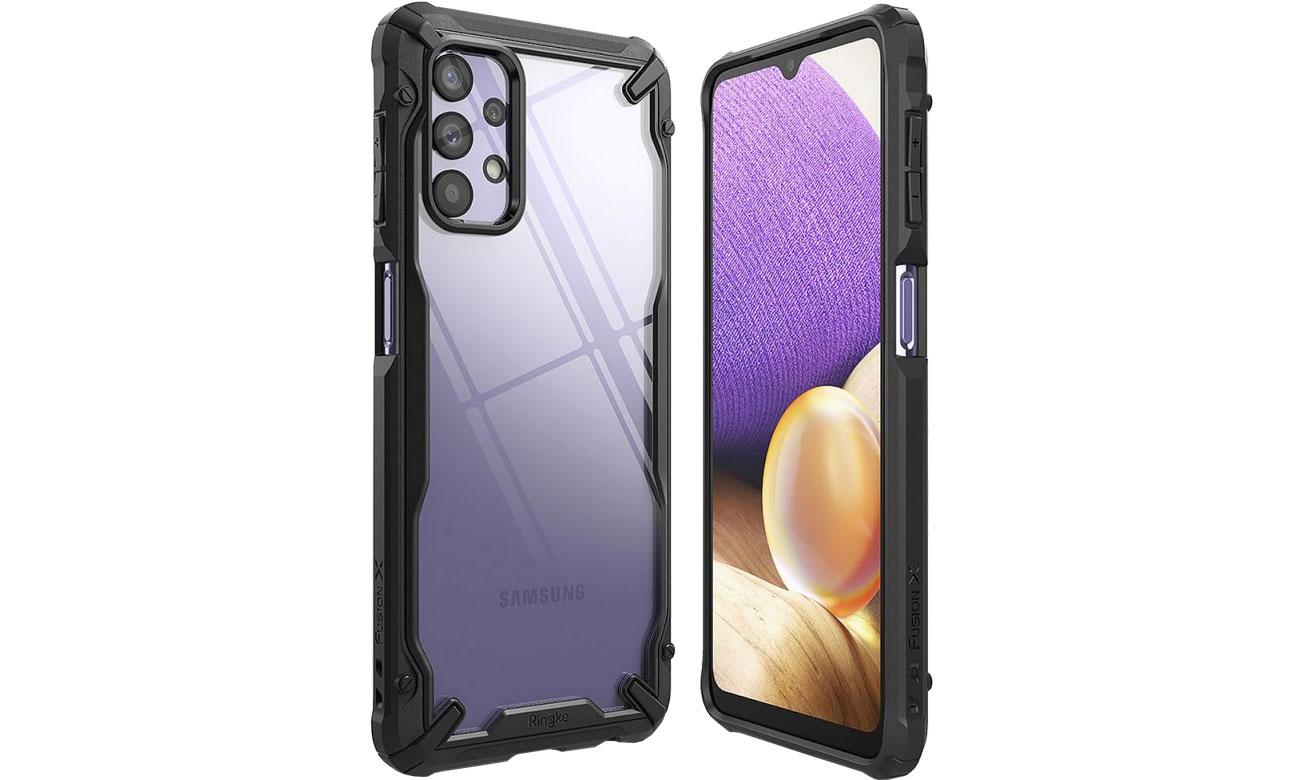 Etui Ringke Fusion X do Samsung Galaxy A32 5G czarny FUSG0071