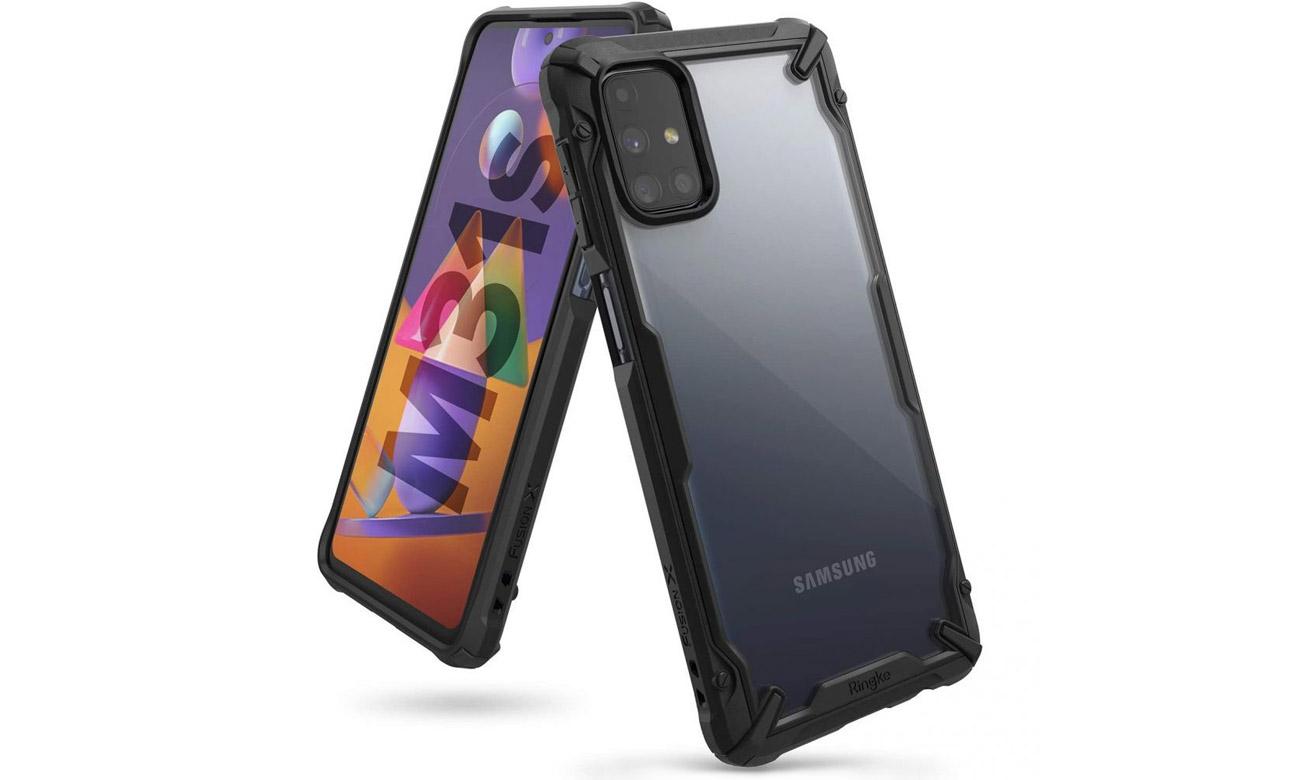 Etui Ringke Fusion X do Samsung Galaxy M31s Czarne