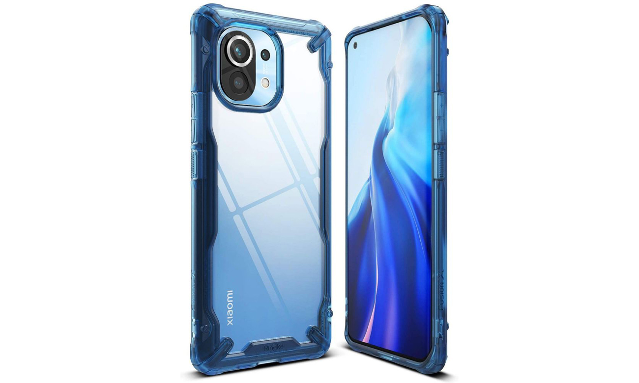 Etui Ringke Fusion X Blue do Xiaomi Mi 11