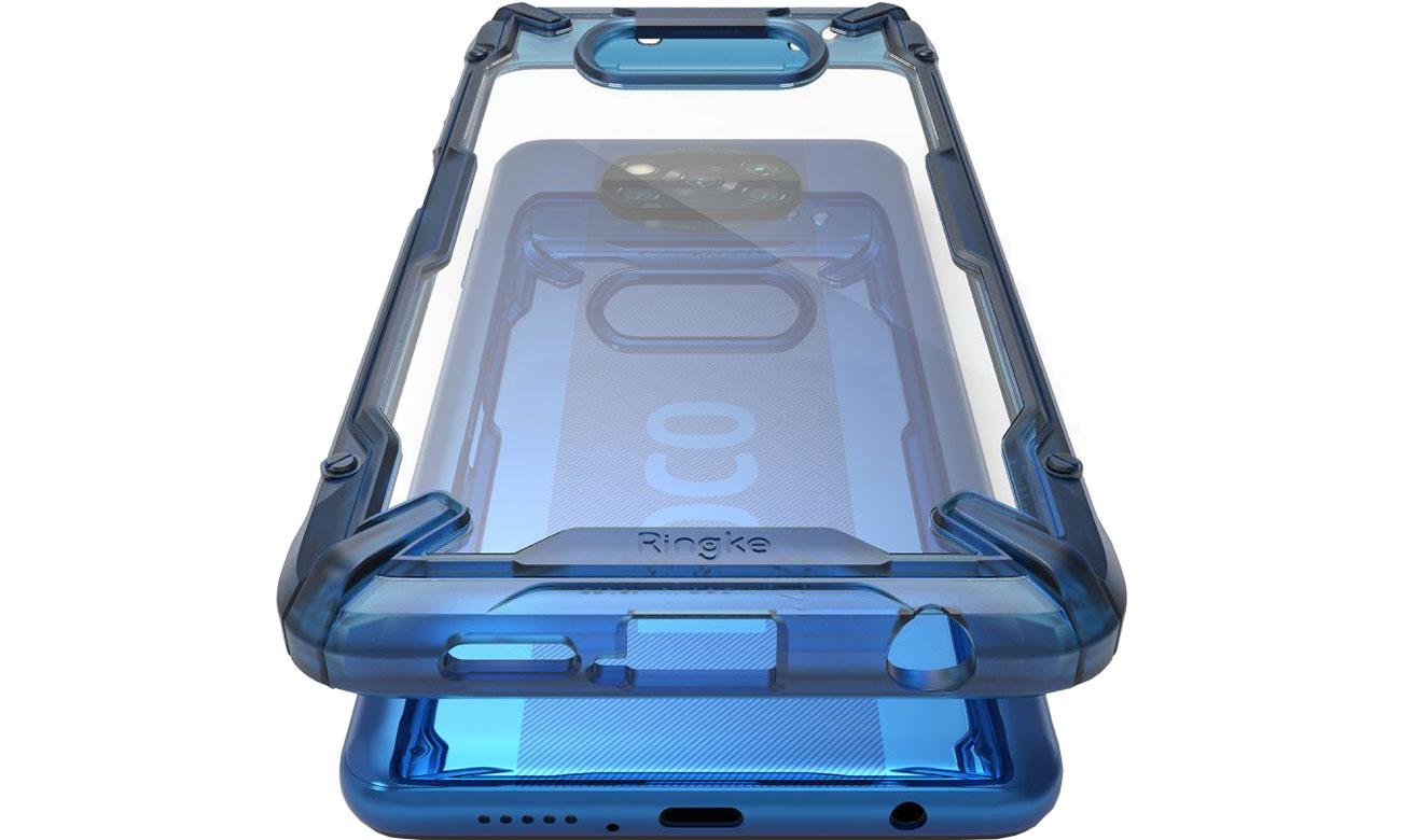 Etui Ringke Fusion X do Xiaomi POCO X3 niebieski 8809758106840