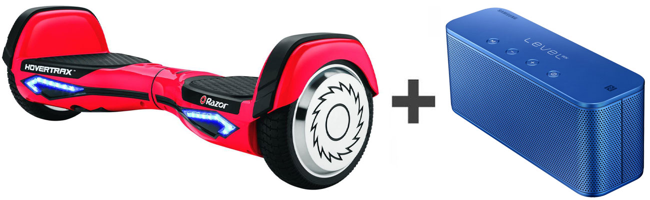 Razor Hovertrax 2.0 + Samsung Level Box Mini