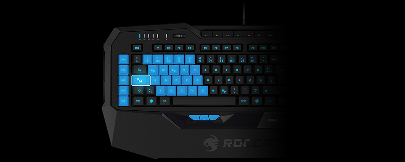 ROCCAT® Isku+ Technologia Easy-Shift[+]™