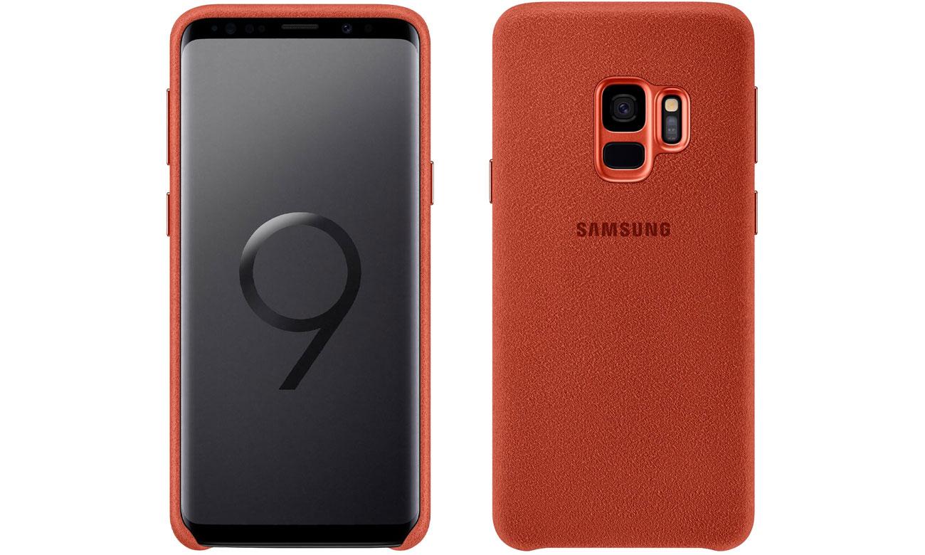 Etui Samsung Alcantara Cover do Galaxy S9 Red EF-XG960AREGWW