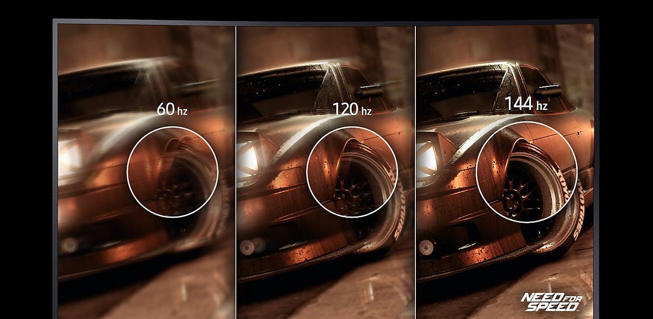 Samsung CHG70 Czas reakcji 1 ms i odświeżanie 144 Hz