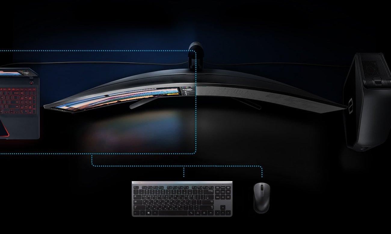 Samsung C43J890DKUX Curved Przełącznik KVM