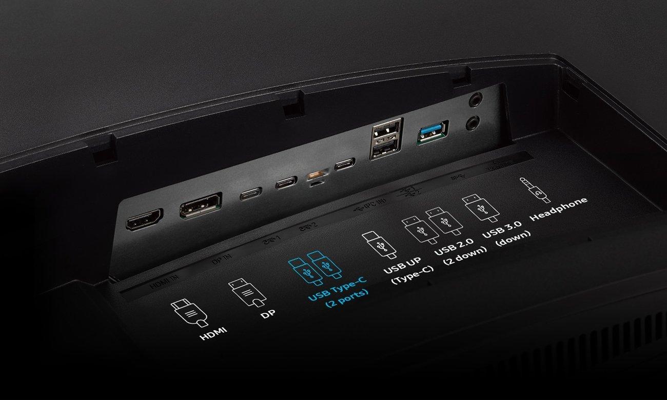 Samsung C43J890DKUX Curved Porty USB-C