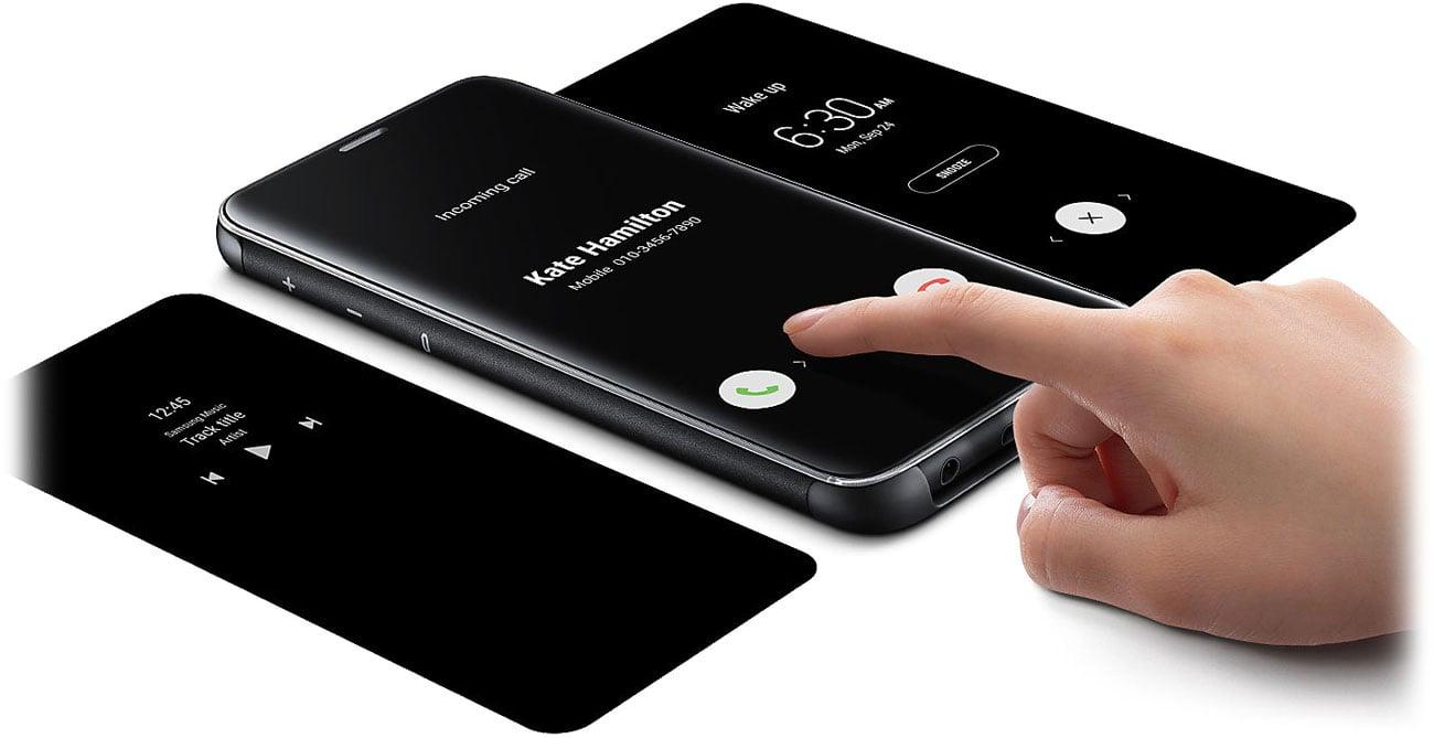 Clear View Standing Cover do Galaxy S9 Interaktywna klapka