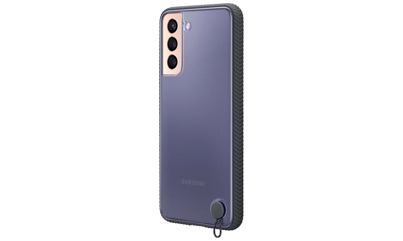 Etui Samsung Clear Protective Cover do Galaxy S21+ Czarne