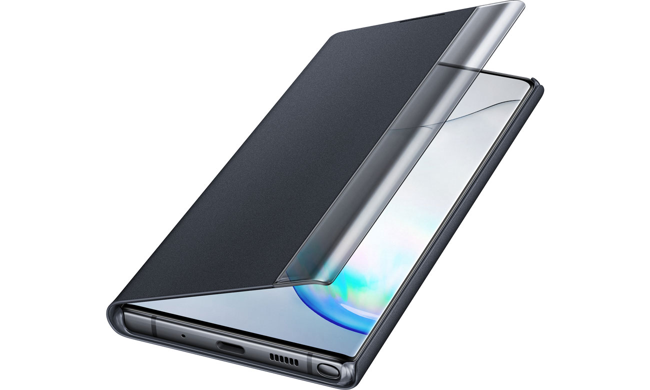 Samsung Clear View Cover do Galaxy Note 10+ czarny