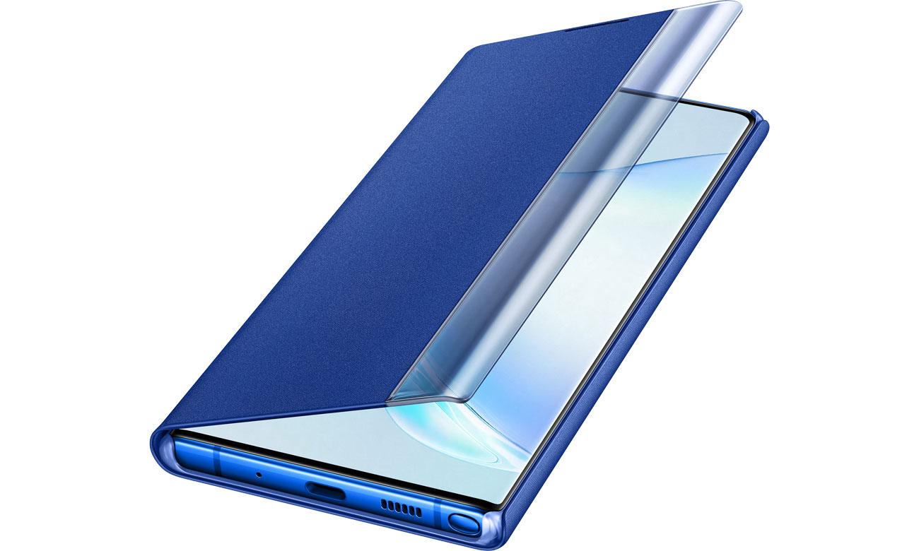 Samsung Clear View Cover do Galaxy Note 10+ niebieski