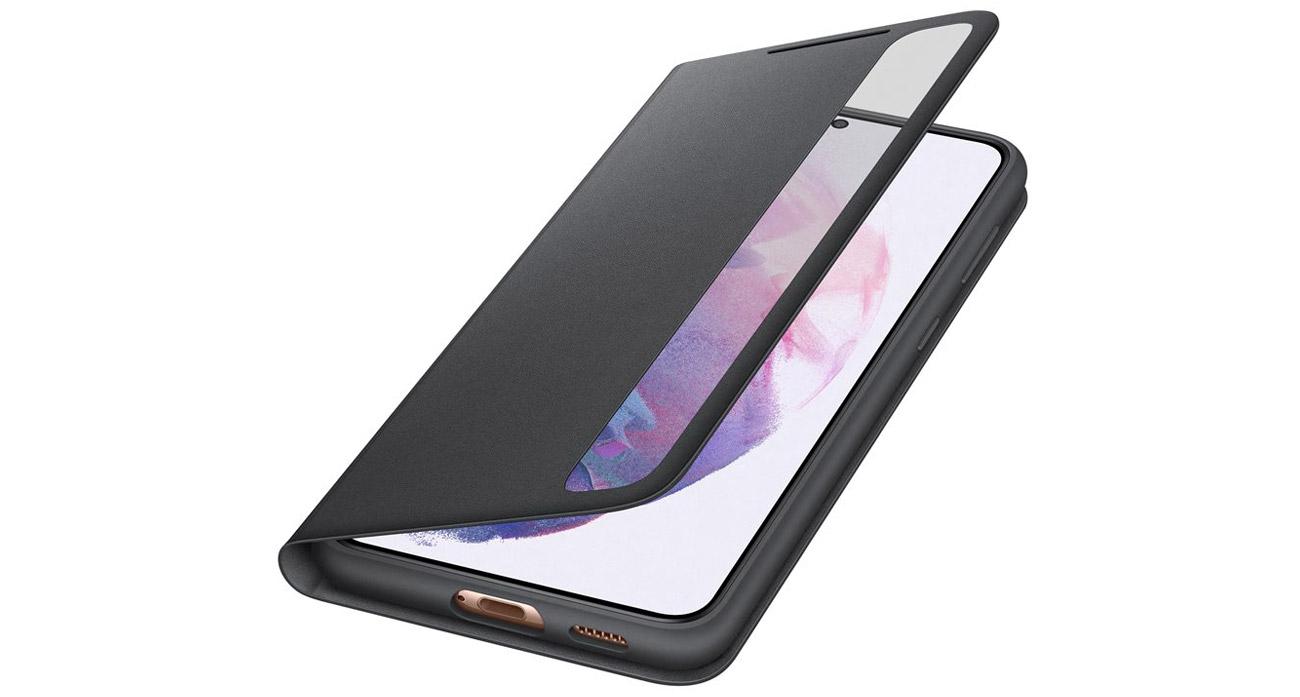 Etui Clear View Cover do Samsung Galaxy S21+ Czarne