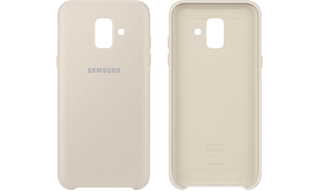 Samsung Dual Layer Cover do Galaxy A6 złote EF-PA600CFEGWW
