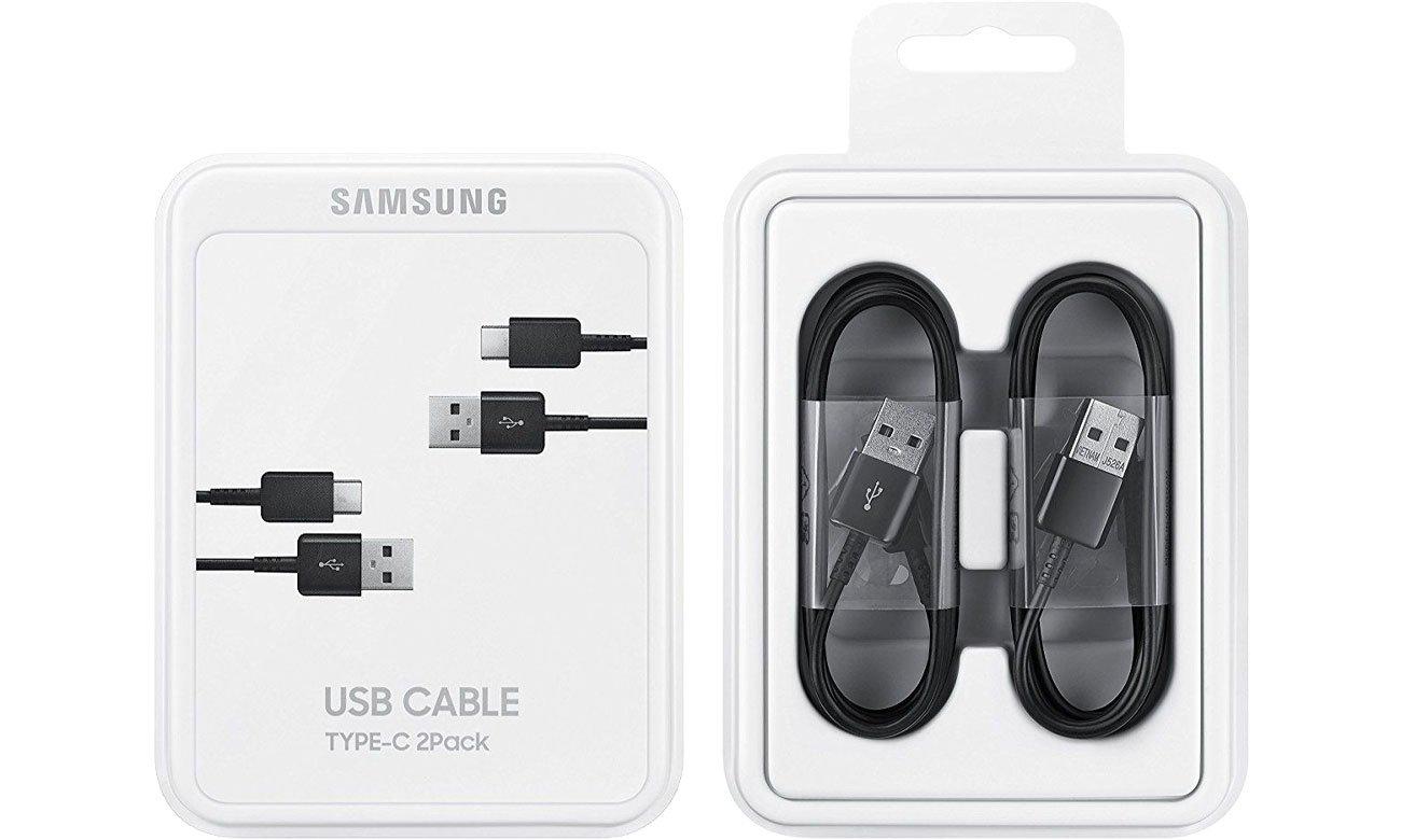 Samsung Kabel Typ-C USB 2.0 1.5m czarny 2 szt. EP-DG930MBEGWW
