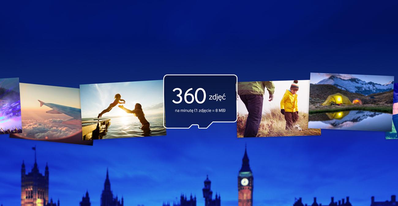 Samsung 64GB microSDXC Evo Przesyłaj szybciej