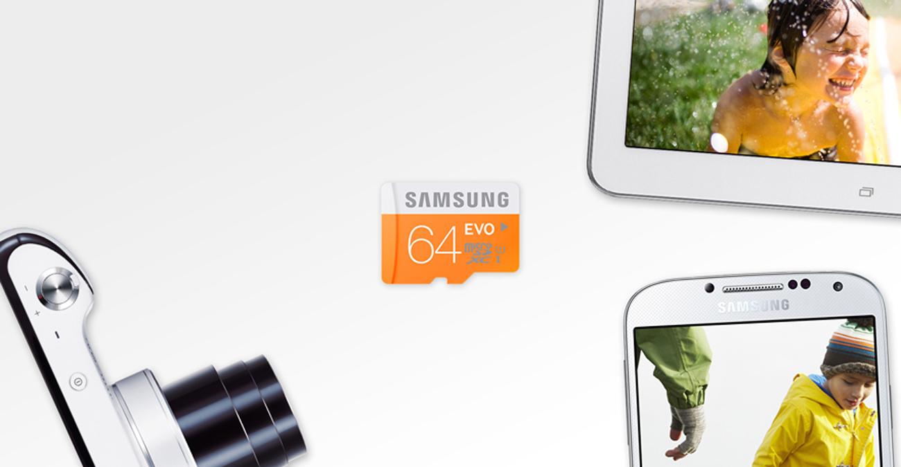 Samsung 64GB microSDXC Evo Nieodłączny towarzysz