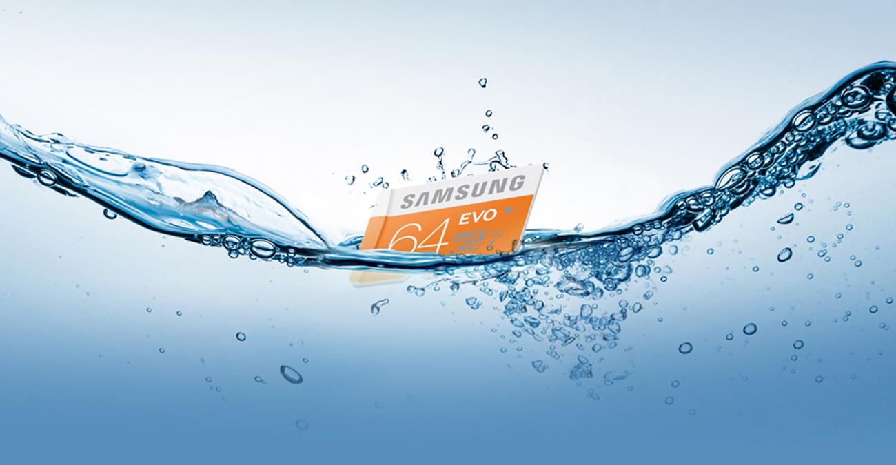 Samsung 64GB microSDXC Evo Nie straszna jej woda