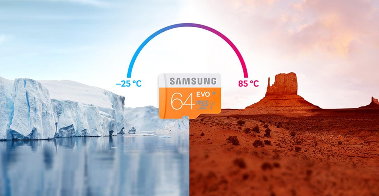 Samsung 64GB microSDXC Evo Gotowa na trudne warunki