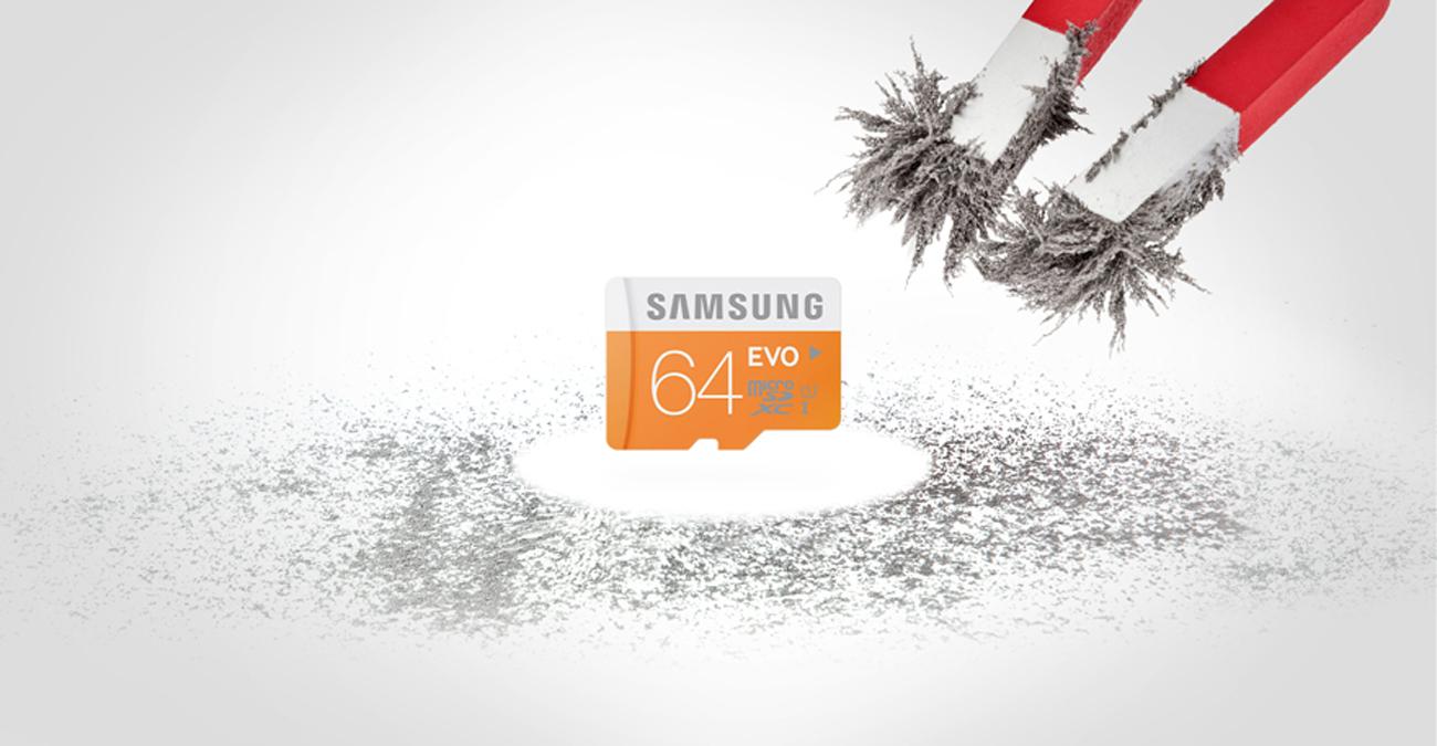 Samsung 64GB microSDXC Evo Odporna na pole magnetyczne