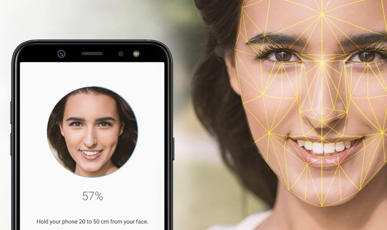 Samsung Galaxy A6+ A605F rozpoznawanie twarzy czytnik linii papilarnych knox