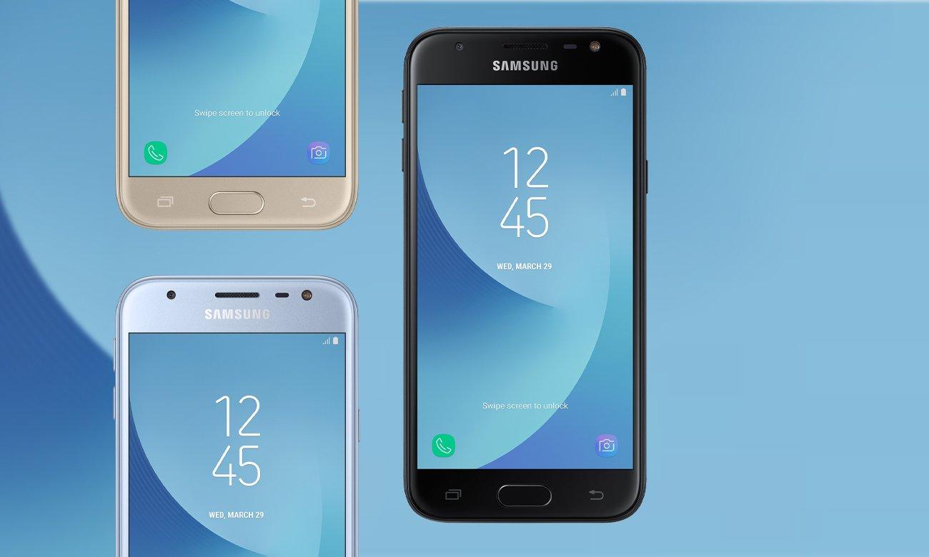 Złoty Samsung Galaxy J3 2017 J330F wzornictwo