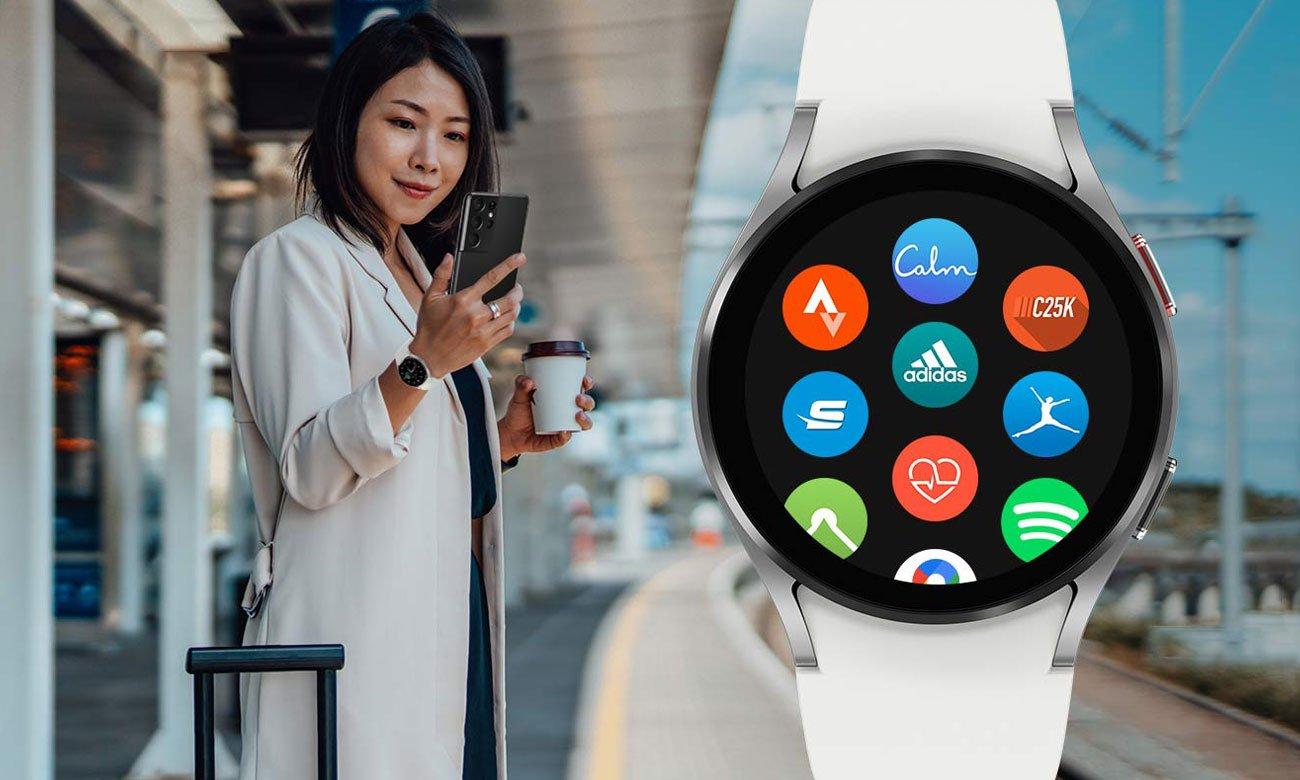 Samsung Galaxy Watch 4 Aluminium 44 mm Black LTE aplikacje