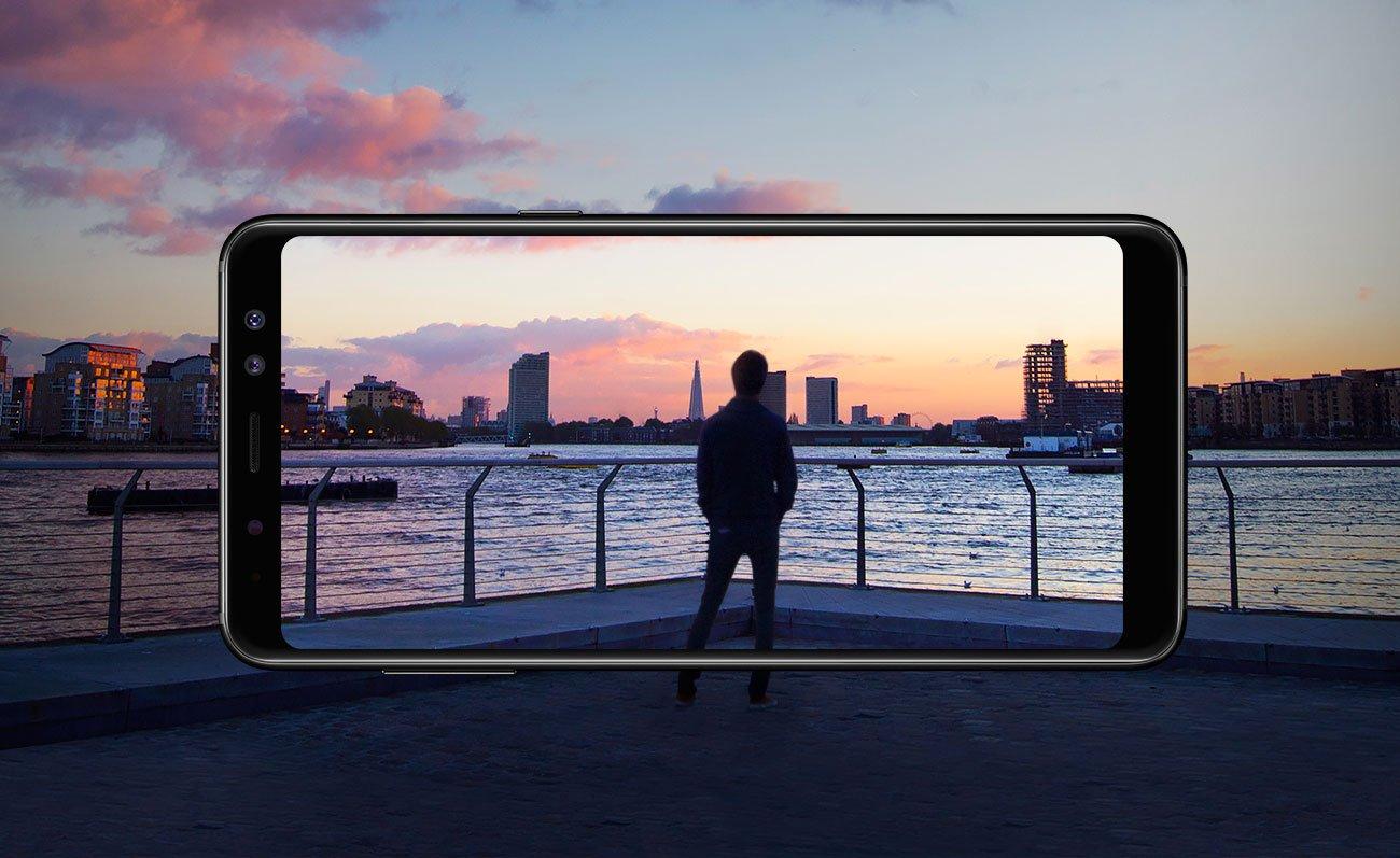 Samsung Galaxy A8 A530F Black Sky ekran infinity fhd+ super amoled