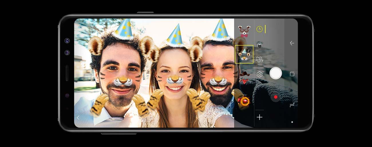 Samsung Galaxy A8 A530F Black Sky podwójny aparat selfie