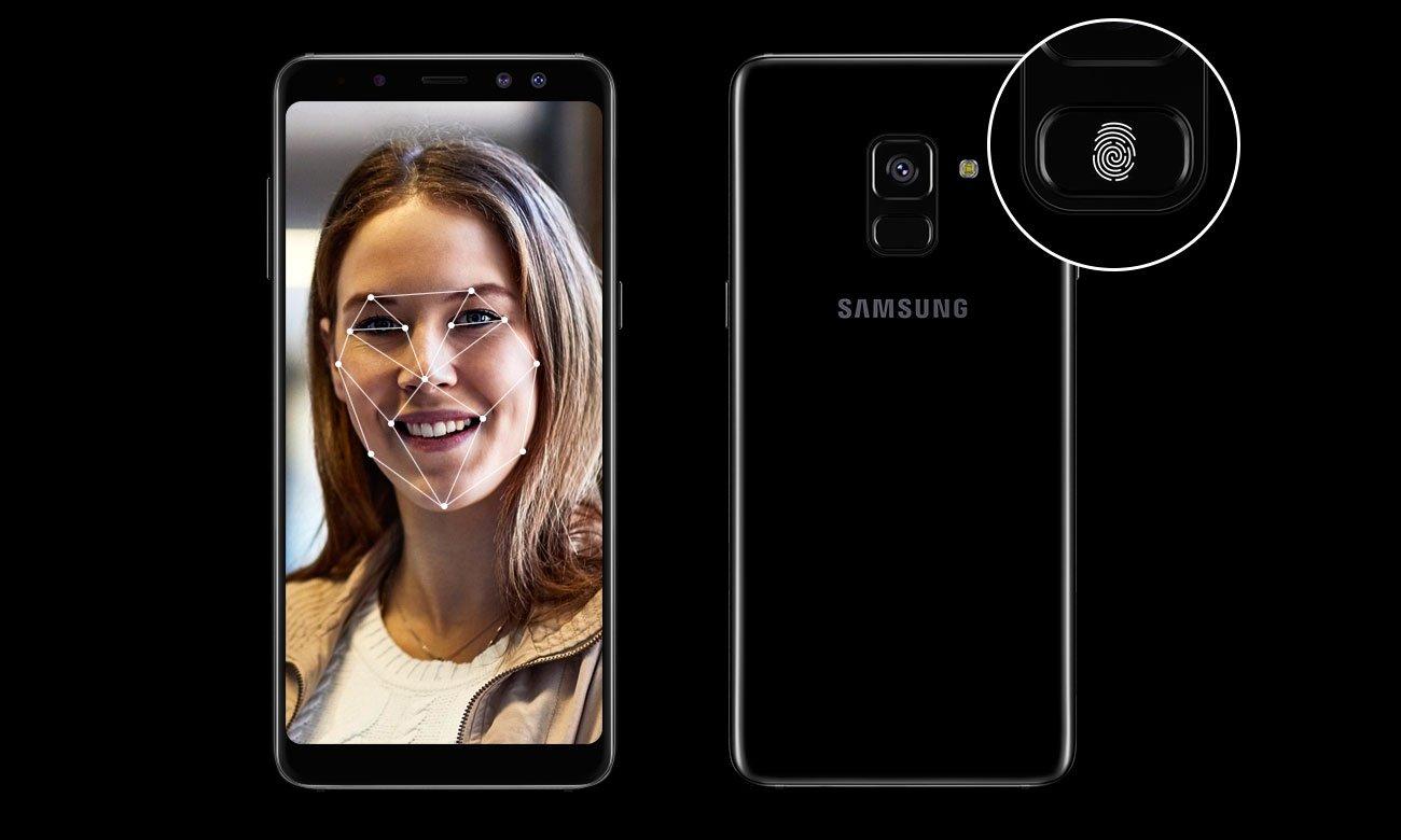 Samsung Galaxy A8 A530F Black Sky rozpoznawanie twarzy czytnik linii papilarnych knox