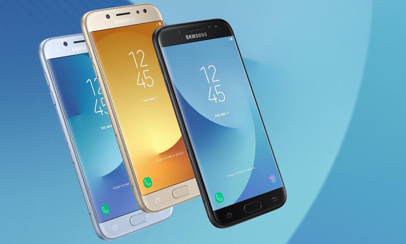 Czarny Samsung Galaxy J5 2017 J530F wzornictwo