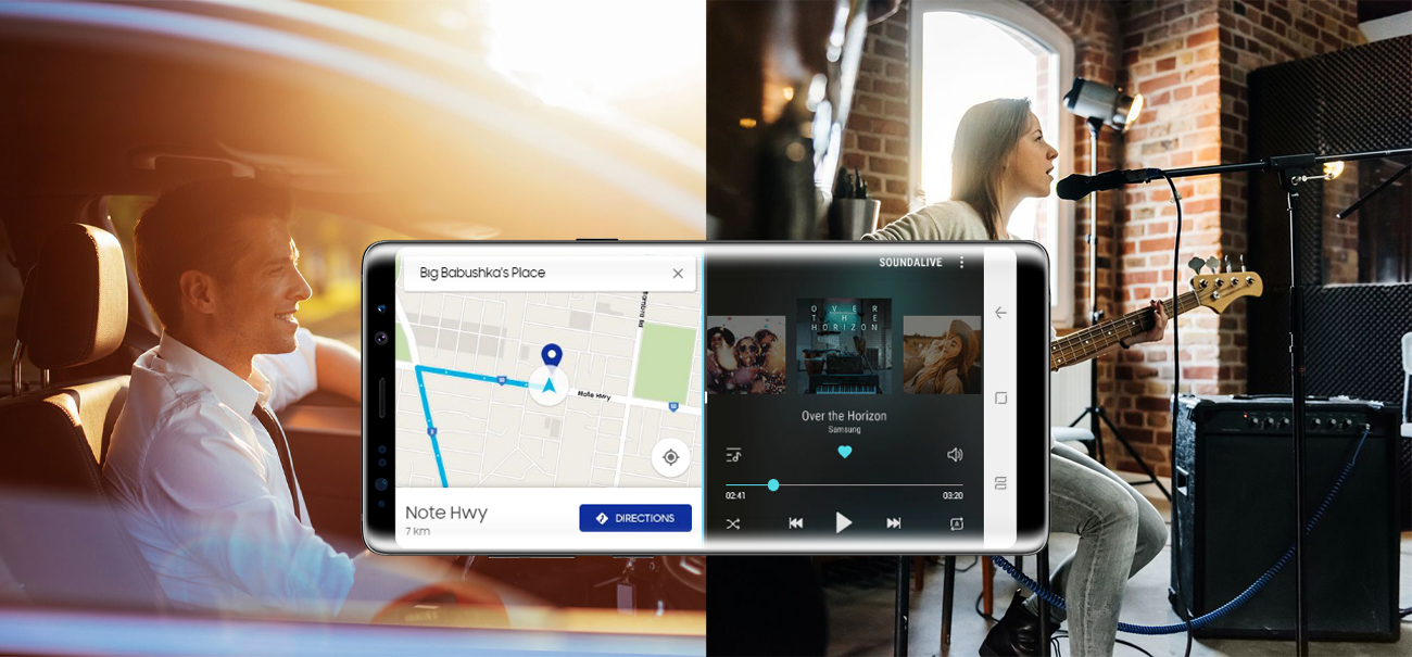 Samsung Galaxy Note 8 Mapple Gold wielozadaniowość