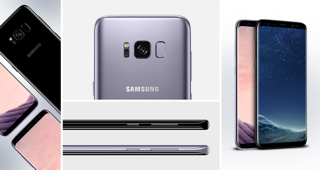 Samsung Galaxy S8 G950F Orchid Grey przełomowy design