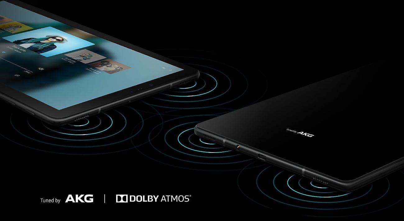 Samsung Galaxy Tab S4 cztery głośniki AKG