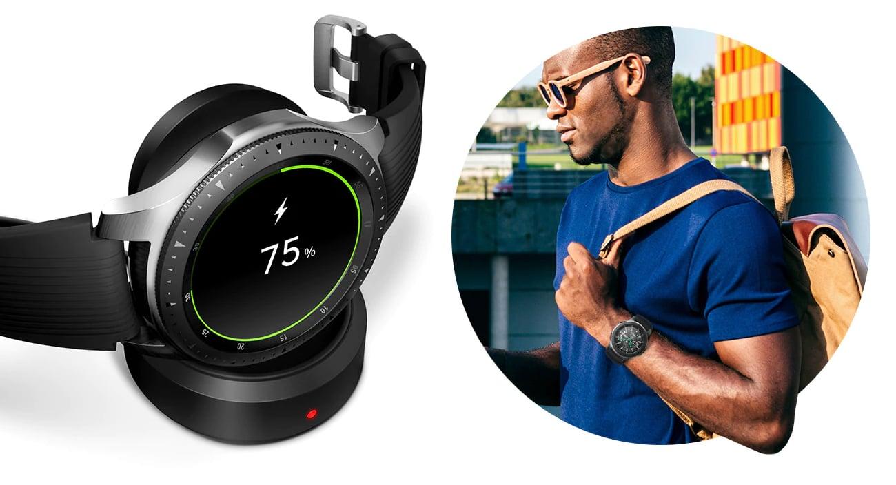 Samsung Galaxy Watch wytrzymała bateria ładowanie indukcyjne