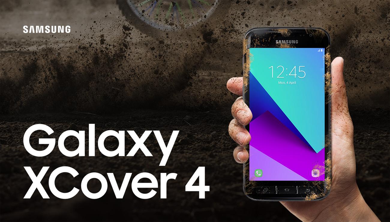 Samsung Galaxy XCover 4 Dark Silver wzmocniona konstrukcja fizyczne klawisze