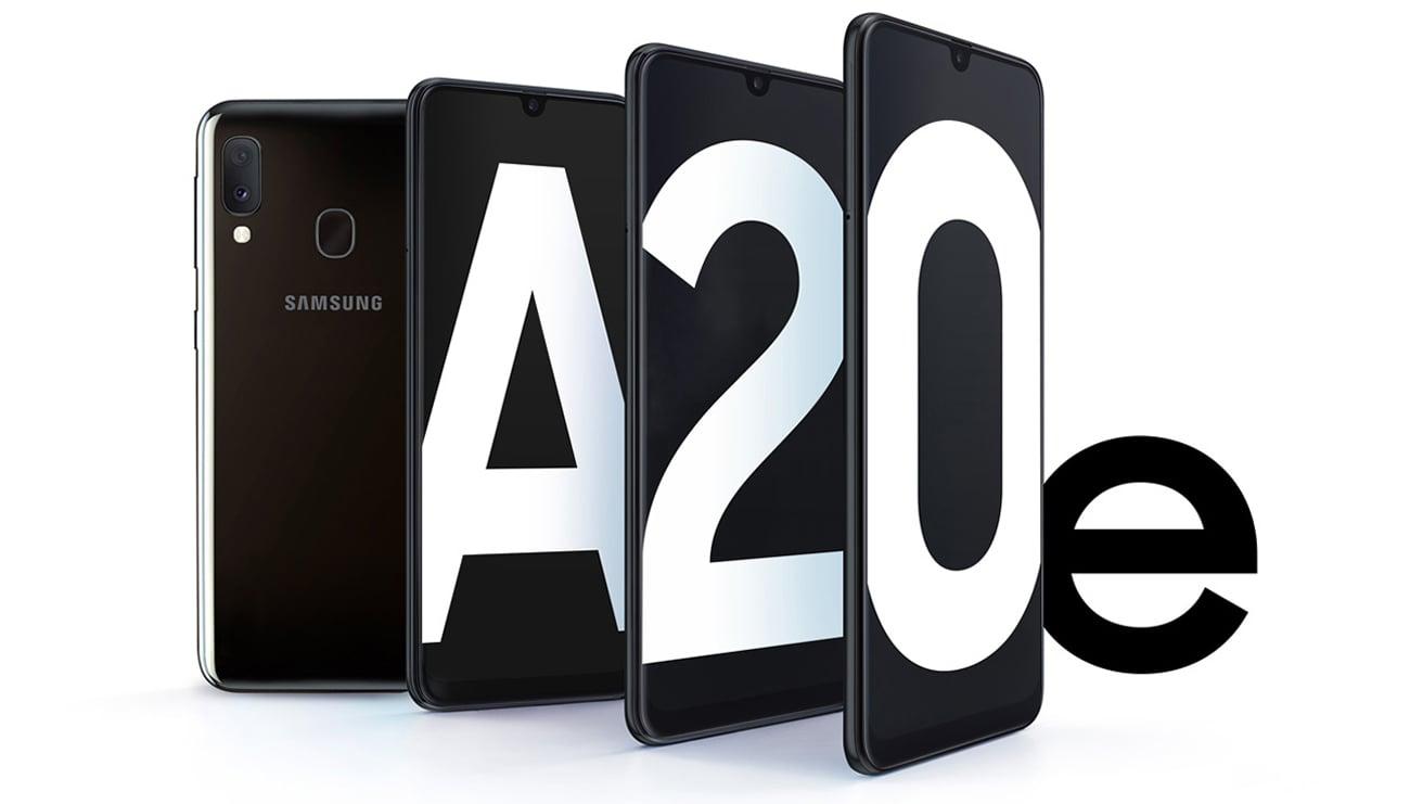 Samsung Galaxy A20e elegancki design