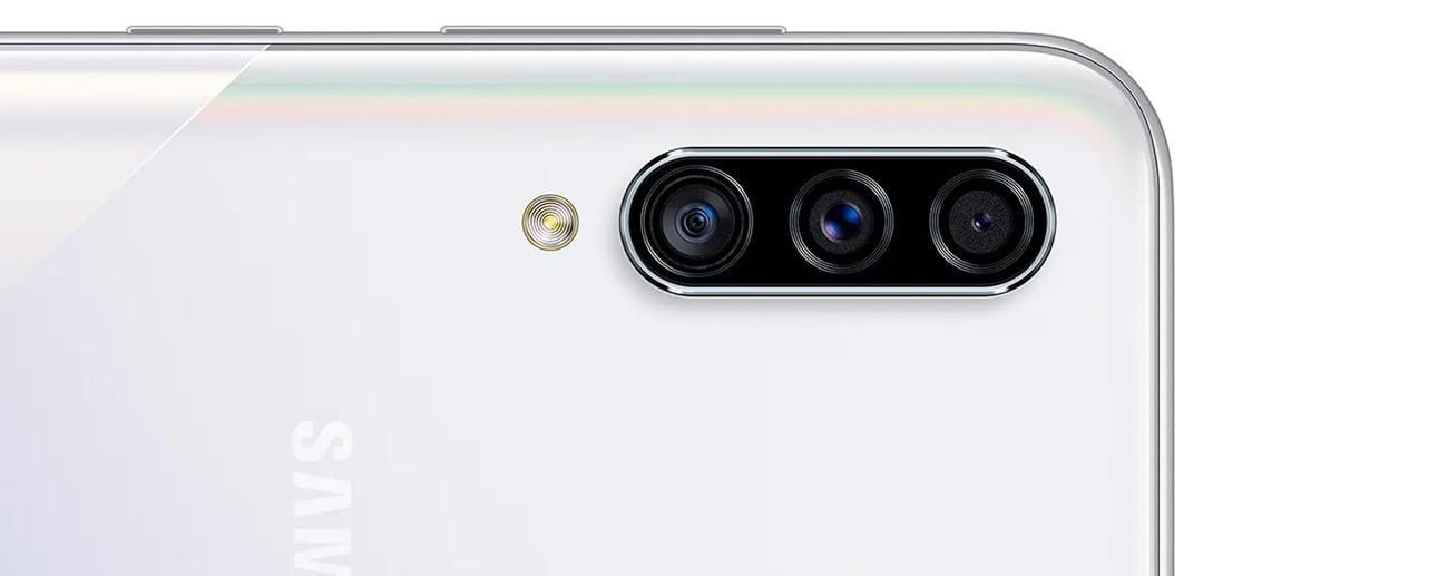 Samsung Galaxy A30s potrójny aparat z obiektywem szerokokątnym DOF bokeh