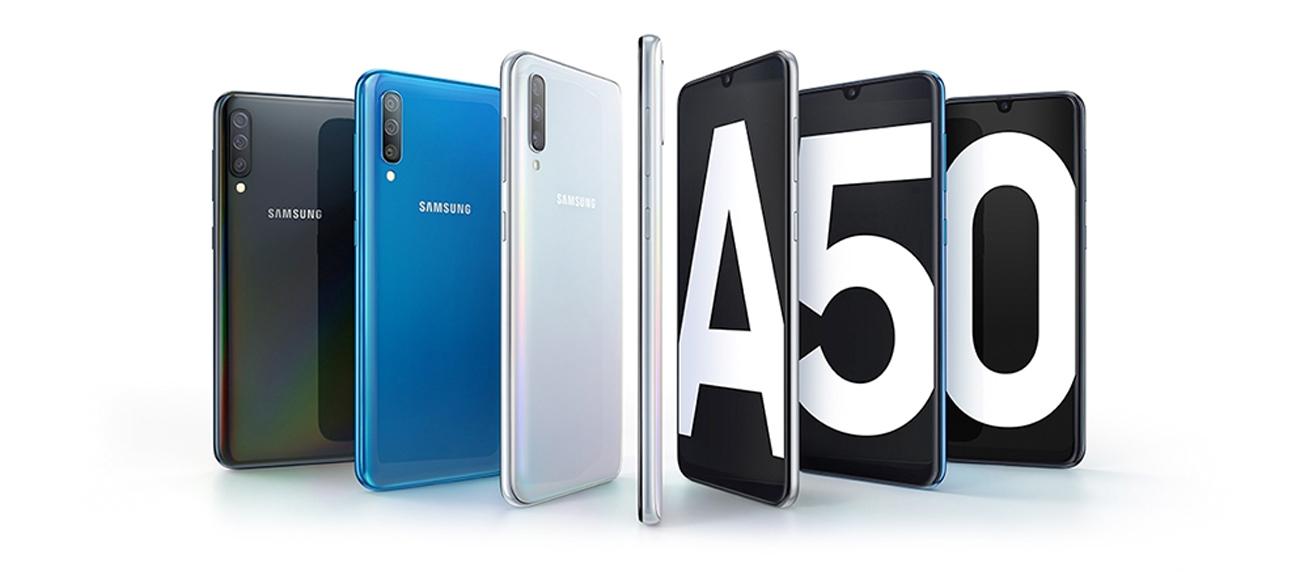 Samsung Galaxy A50 elegancki design